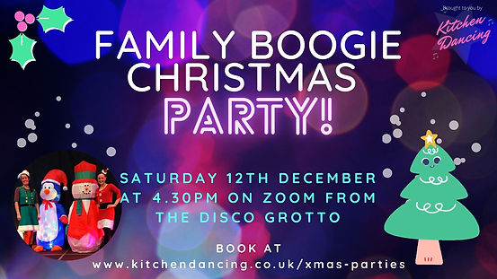 Virtual online christmas dance and fitness parties! Great for all the family, adults and children.