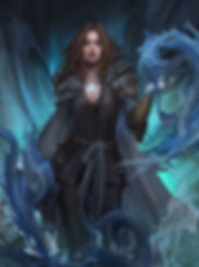 Indra has been gifted with the water elemental to free the world of Flidais from the clutches of the Saskian Empire.