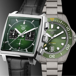 綠色火花 泰格豪雅的極限綠腕錶/  Green gems, TAG Heuer presents two greenish watches