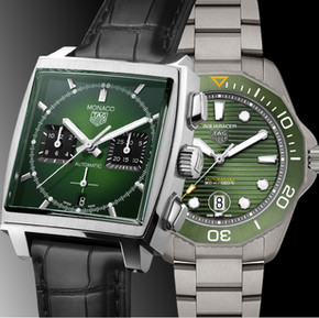 綠色火花 泰格豪雅的極限綠腕錶/  Green gems, TAG Heuer presents two greenish watches