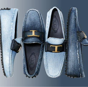 鞋履之王 TOD'S 的丹寧面料策略/ What a king, TOD's unveiled the denim loafers