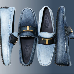鞋履之王 TOD'S 的丹寧面料策略/ What a king, TOD's unveiled the denim loafers
