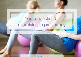 Your checklist for exercising in pregnancy