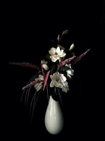 Magnolia in Cream Vase