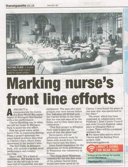 Thanet Gazette article 21Mar14 Ellington Park