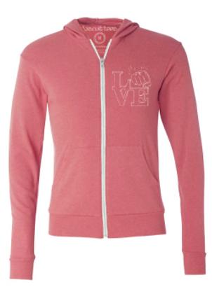 Love zip-up hoodie