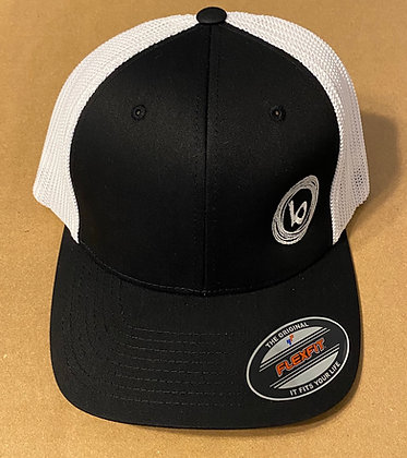 Biscuit Logo Black and White Flexfit Hat