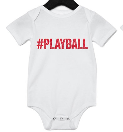 #PLAYBALL onesie