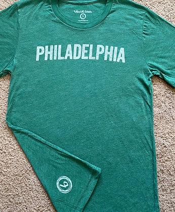 Green Philadelphia tee
