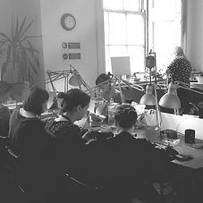 Jewellery Students in the SilverHub Studio