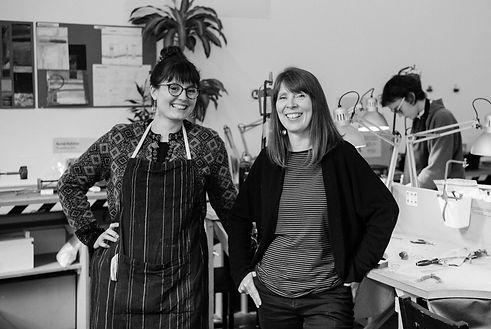 Lisa Arnott and Jessica Howarth in the SilverHub Studio