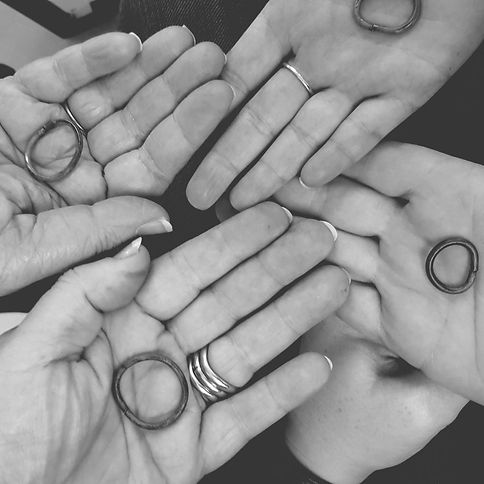 Students Holding Rings