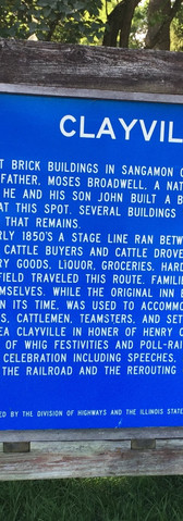 Clayville sign