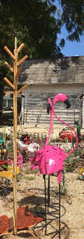 Iron flamingos