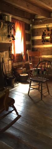 Interior of Clayville cabin