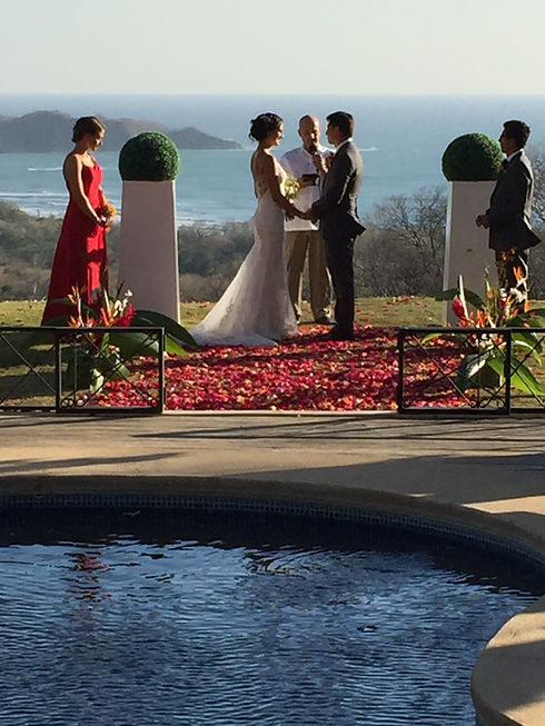 Beautiful backdrop for ceremony Costa Rica