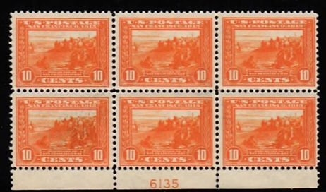 United States #400A plate block. VF, NH.