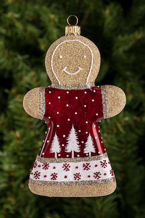 Winter Night Gingerbread Girl / W