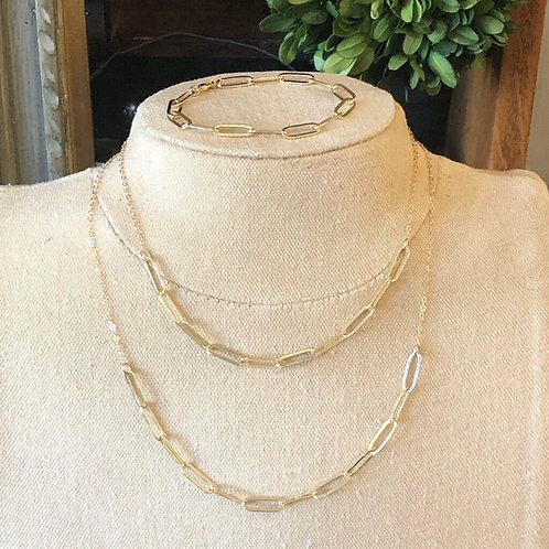 Elongated Gold-filled Necklace or Bracelet $38-$58