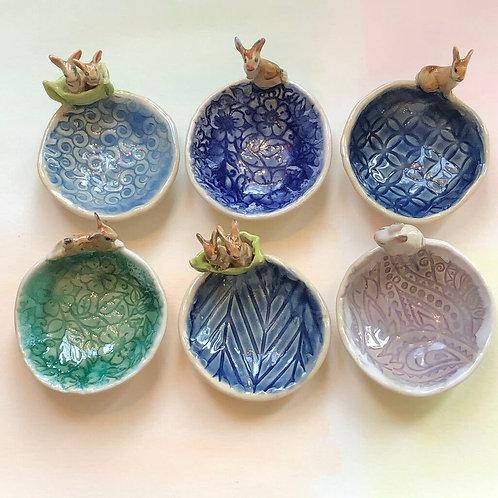 Artisan Ring Dishes-BUNNIES