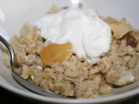 Barley and Apple Breakfast Bake