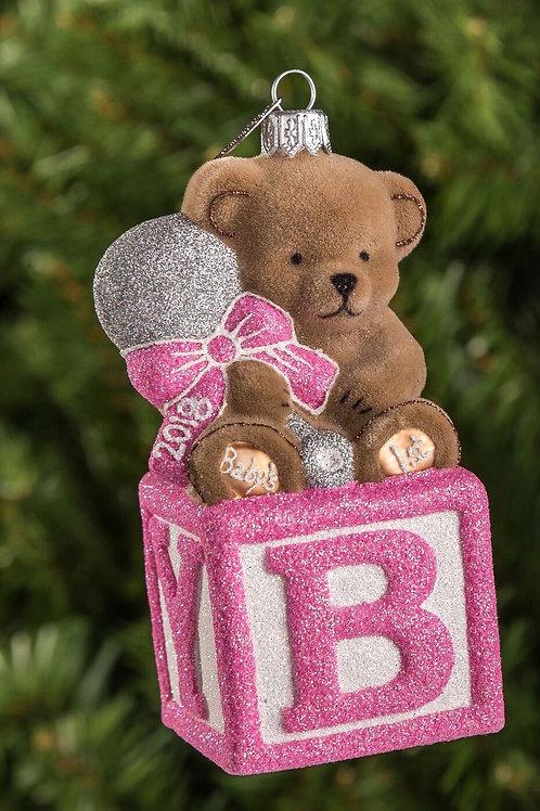 M230P Bear on Block - Pink