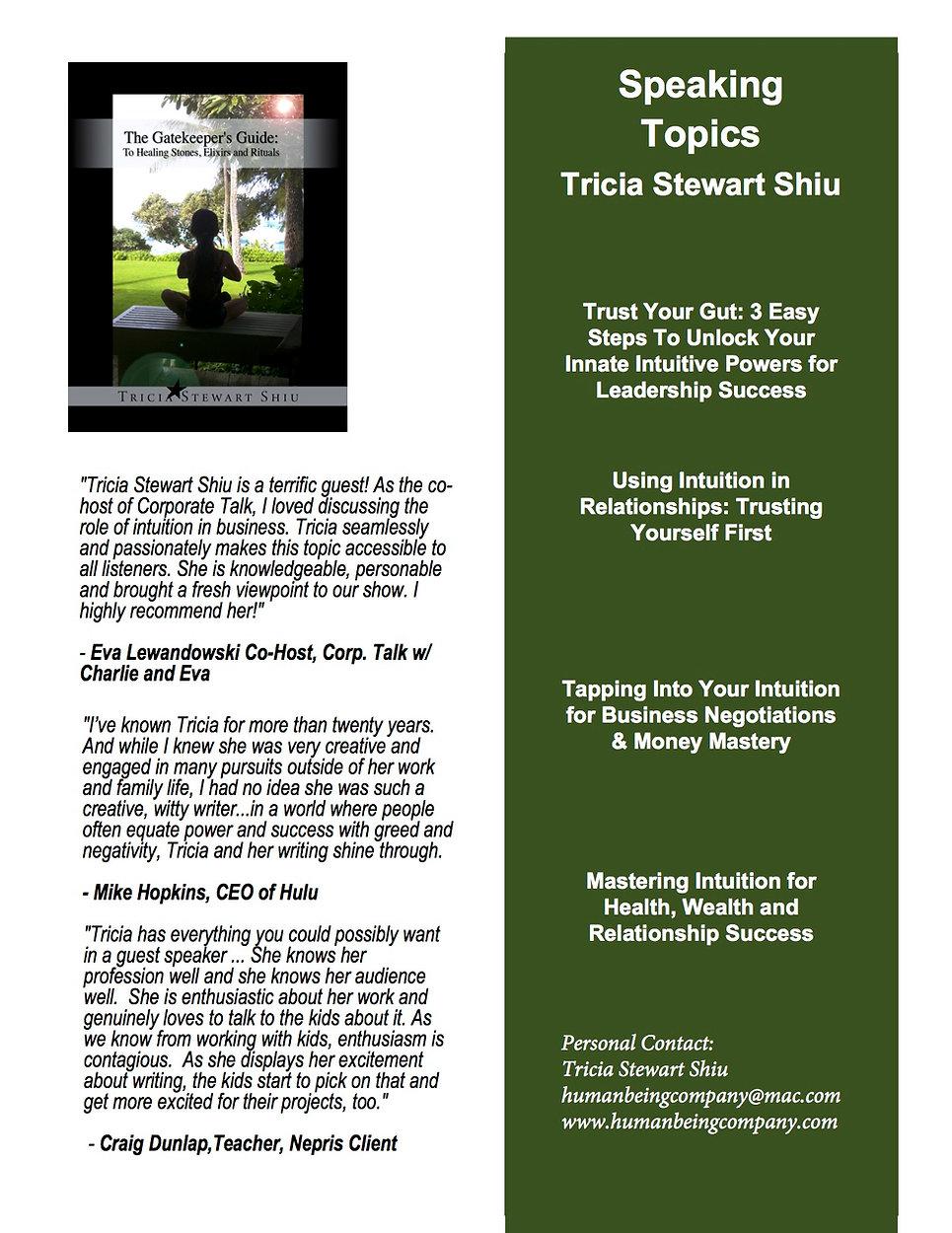 Tricia Stewart Shiu Speaker
