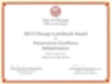 Chicago Landmark Award given to McJames Construction