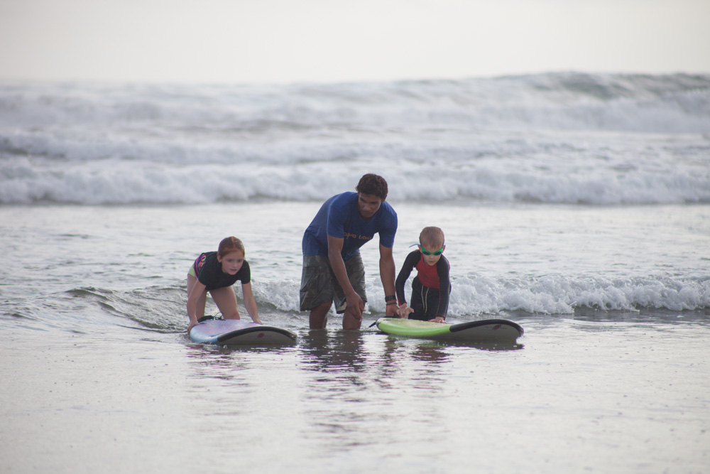Surf lessons in Nosara