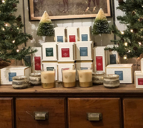 Votivo Holiday Gold Boxed Candles $14-$36
