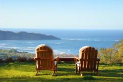 Chairs looking at beach
