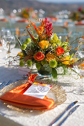 destination wedding costa rica floral arrangement