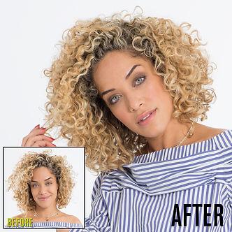 Before and After Deva Curl Fringe A Boutique Salon