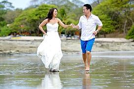 Wedding photo at the beach