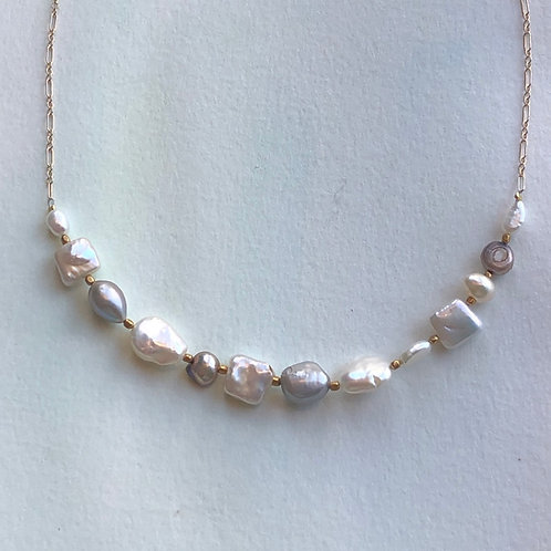 Freshwater Mixed Pearl Neclace