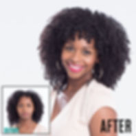 Before and After Deva Curl Fringe of Lombard