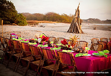 destination wedding costa rica beach rehearsal dinner