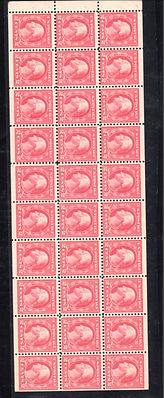 United States #499f booklet pane. Lightl