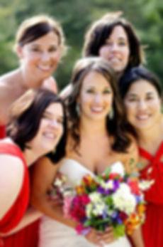 Bridal party at destination wedding Costa Rica