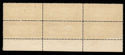 United States C14 plate block of 6. Ligh