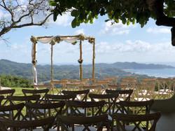 set up for wedding in December