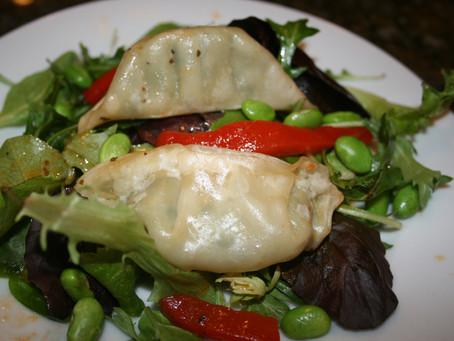 Potsticker Salad with Hoisin-Ginger Dressing
