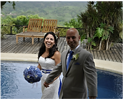 Wedding couple at Tierra Magnifica