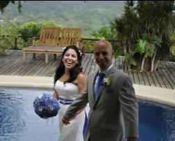Wedding couple at Tierra Magnifica
