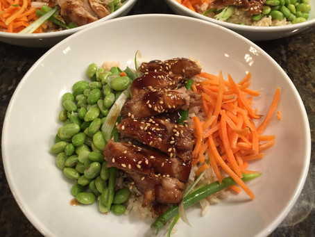5 Spice Glazed Chicken and Rice Bowl