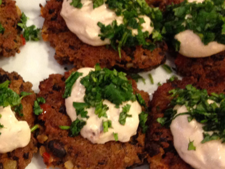 Black Bean Cakes with Chipotle Sauce