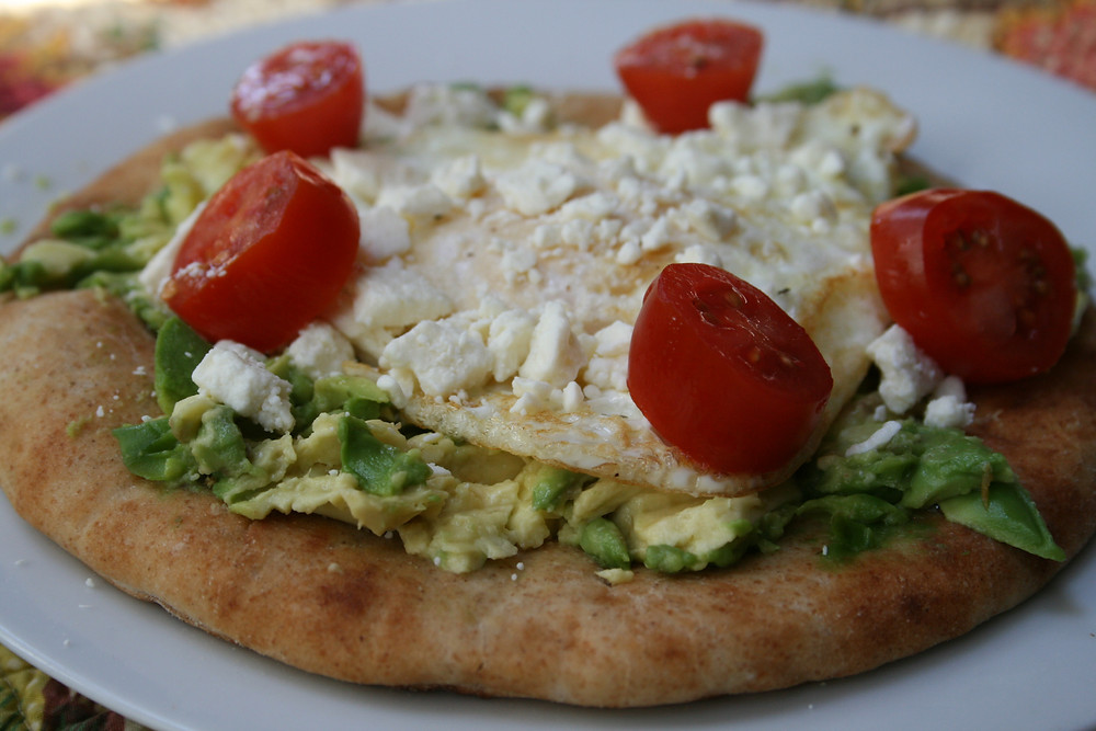 Avocado Egg Pita