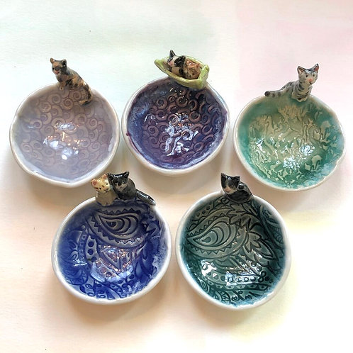 Artisan Ring Dishes- CATS & FRIENDS