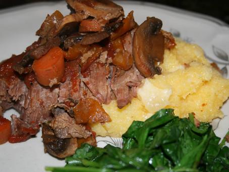 Braised Beef with Polenta