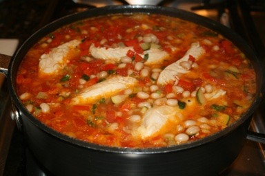 Savory Chicken, Vegetable and Navy Bean Stew